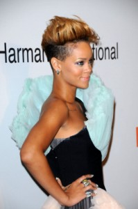 rihanna with a fohawk