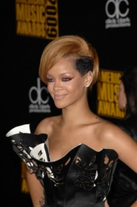 Rihanna with a two-toned emo